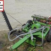 Косилка сегментная с граблями для японских мини-тракторов