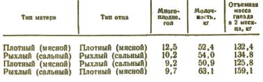 Репродуктивные качества свиноматок крупной белой породы при различных сочетаниях пар разных типов конституции
