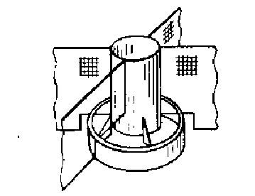 Круглая бункерная кормушка для кроликов