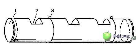 Поилка для кроликов из асбоцементной трубы