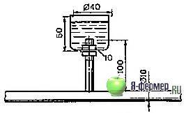 Схема установки патрубка со стаканом