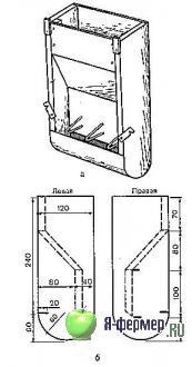 Бункерная кормушка для кроликов своими руками чертежи фото