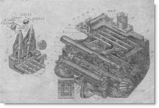 коробка передач трактора Т-74