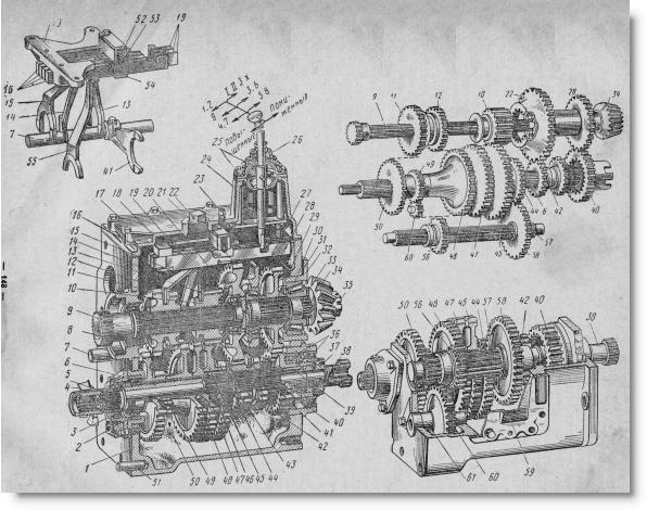 коробка передач трактора МТЗ-