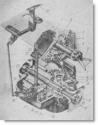 Передач трактора МТЗ-50 и раздаточная коробка трактора МТЗ-52.