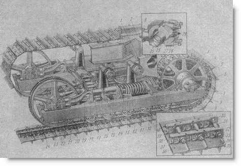 ходовая часть трактора Т-100М
