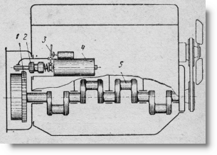 схема системы электрического пуска для тракторов