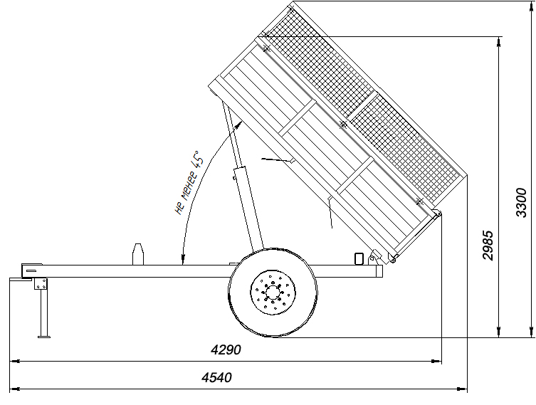 Тракторный прицеп ПС-2,