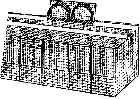 Клетки для зверей с домиками, которые вмонтированы в выгул