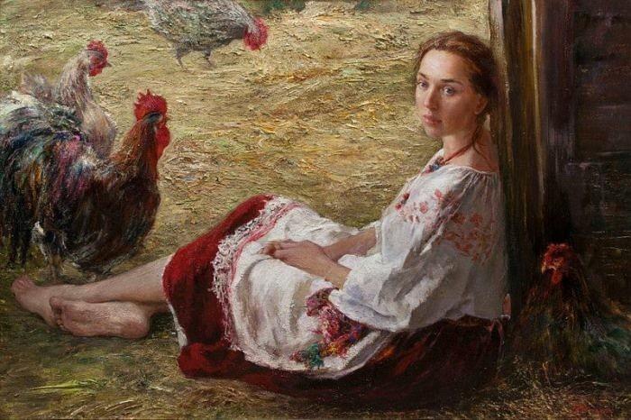 Русская крестьянка картина
