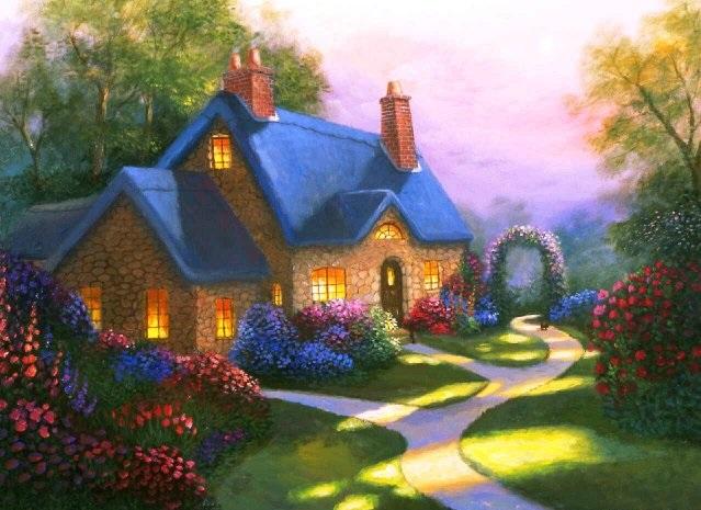 Как нарисовать красивый дом фото