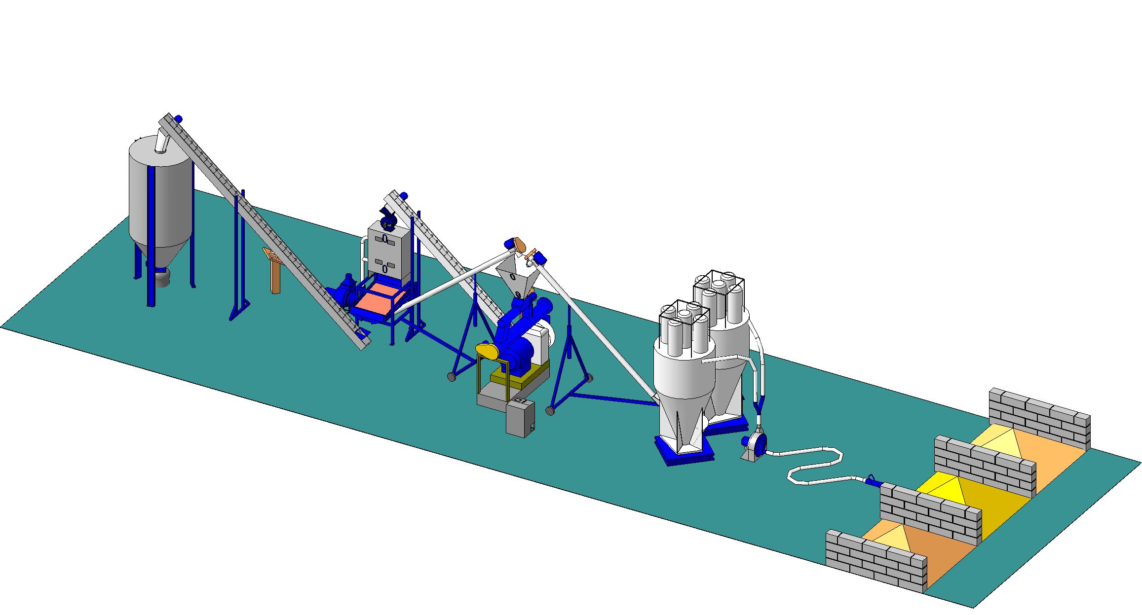схема смеситель для комбикормов