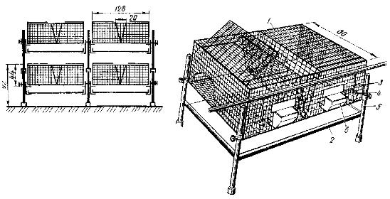 Сетчатые клетки для кроликов