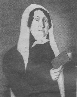 Александра Михайловна Танеева, урожденная Владыкина, помещица части деревни Ельниково. С портрета первой четверти 19-го столетия