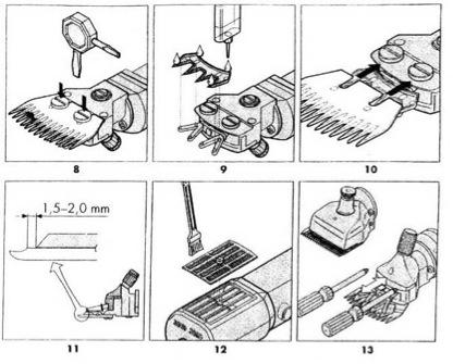 Схема установки режущей пары и чистки фильтра