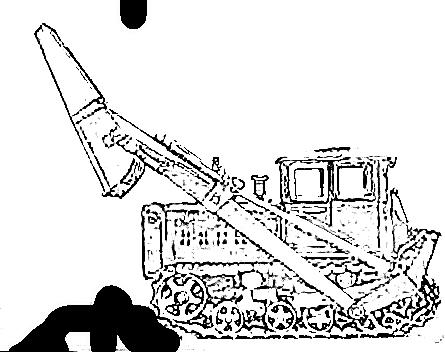 Фотография погрузчика-бульдозера ПБ-35.