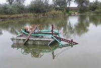 Миниземснаряд МЗ-40 на озере