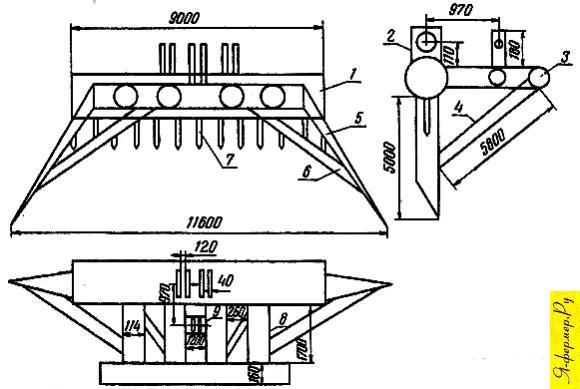 Устройство самодельной волокуши для трактора