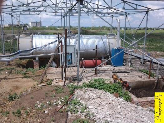 Биогазовая установка БГУ-20 работает на отходах бойни