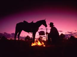 ковбой с лошадью, пастух