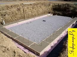 Фундамент для дома фермера.