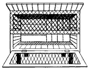 Односекционная клетка для содержания основного стада кроликов