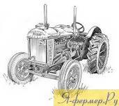 старый трактор, рисунок