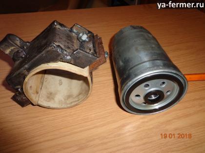 Оправка с хомутами и с резиновыми тормозами