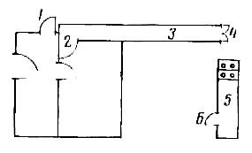 План расположения коридора, кухни и погреба