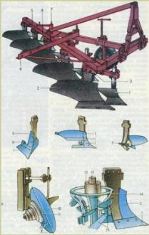 Навесной пятикорпусный плуг