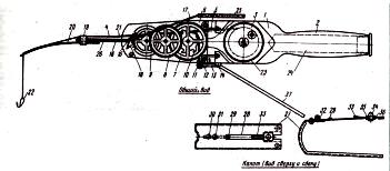Конструкция механической виброудочки
