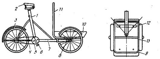 Оригинальная велотележка схема