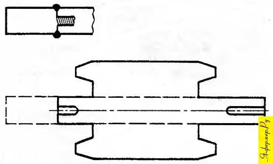 Ротор электродвигателя с удлиненным валом, рисунок