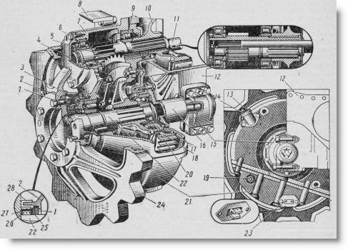 конечная передача трактора ДТ-75