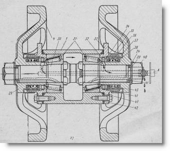 Каретка подвески ходовой части трактора ДТ-7, рисунок
