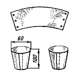 Стаканчик для рассады из полиэтилена