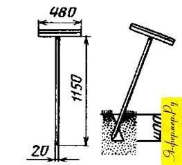 Усовершенствованный лом для пробивания скважин