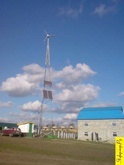 Вятряк и солнечные панели