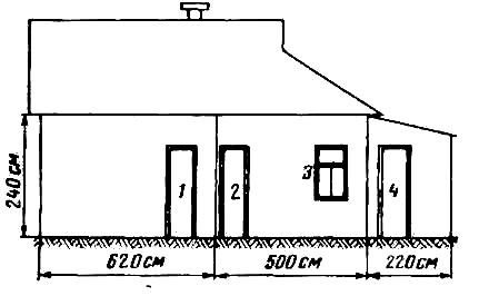 Вид на сарай со стороны двора