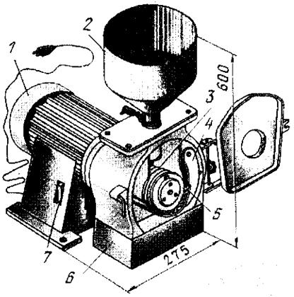 Микродробилка для зерна
