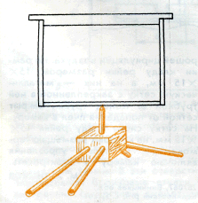 подставка для рамок при опрыскивании щавелевой кислотой