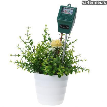Товары для земледелия с Алиэкспресс. Прибор для определения влажности и кислотности почвы.