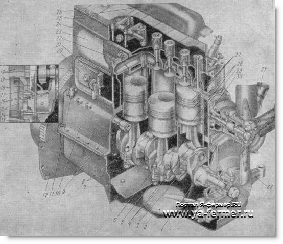 кривошипно-шатунный механизм двигателя трактора Д-5