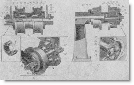 узлы ходовой части трактора Т-100М