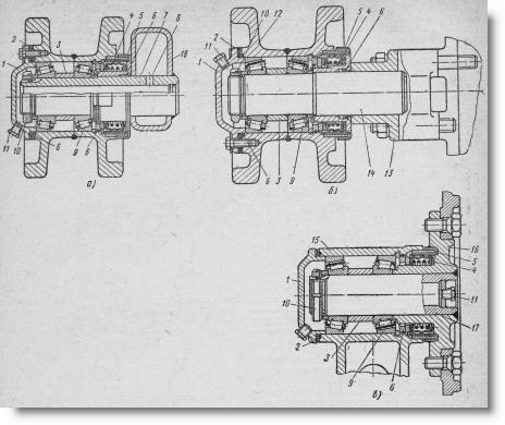 опорный каток, поддерживающий ролик и натяжное колесо трактора Т-54В