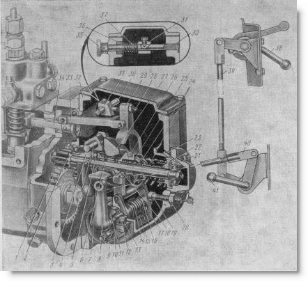 всережимный регулятор тракторного двигателя СМД-14