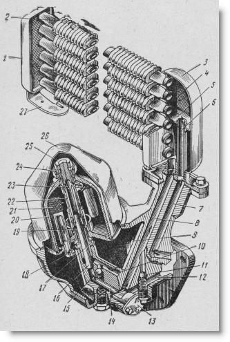 полнопоточная центрифуга и масляный радиатор двигателя Д-37М