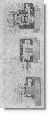 механизмы привода гидронасосов тракторов