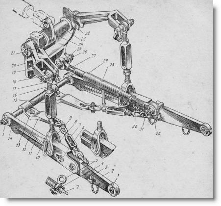 навесное устройство трактора МТЗ-50