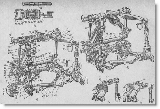 навесное устройство трактора ДТ-75